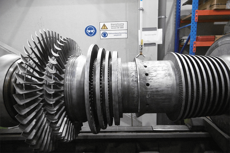 MAJOR OVERHAUL ABB VE 36 A  8640 kw - High speed balancy of rotor
