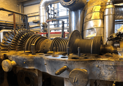 MAJOR OVERHAUL ABB VE 36 A  8640 kw cogeneration steam turbine